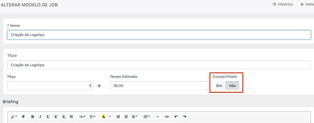 Para adicionar editar modelos de JOB o Usuário deve ter acesso ao menu  ADMIN, onde ele acessará as Opções do Sistema e clicará em Modelos de JOB  ou quando o ... 2d8e788cd0